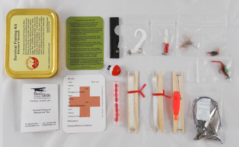 Emergency fishing kit by best glide ase boundary waters for Survival fishing kit