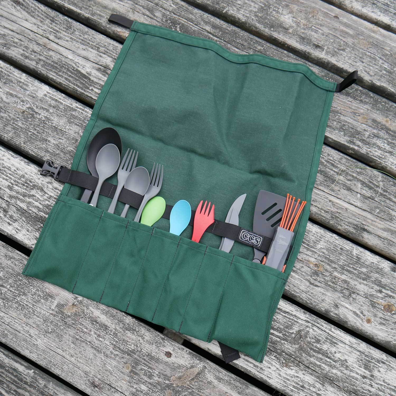 Utensil Roll Up By Ccs Camp Kitchen Organizer Boundary