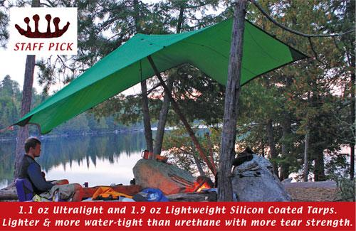 1.9oz 10x10 Silnylon Tarp. Zoom & 1.9oz 10x10 Silnylon Tarp By Ccs Light Weight Shelter : Boundary ...