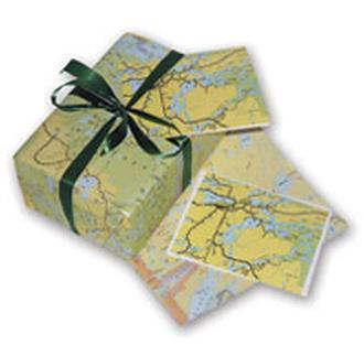 Map Gift Wrap