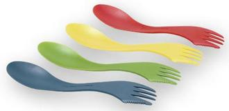 Spork 4pk Assorted Colors