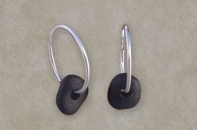 Basalt Hoop Earrings