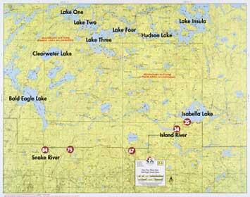 Fisher Maps F04 Lake One | Boundary Waters Catalog