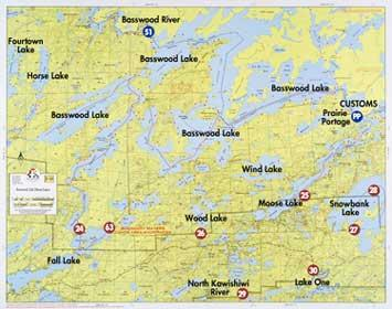 Fisher Maps F10 Basswood | Boundary Waters Catalog