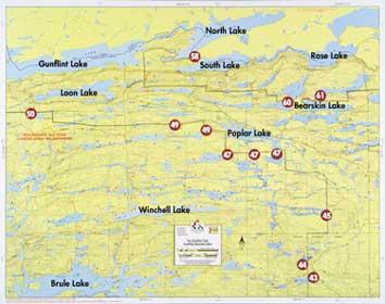 Fisher Maps F13 : Gunflint Lake, Bearskin | Boundary Waters Catalog