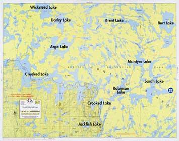 Boundary Waters Catalog Fisher Maps F17 Crooked
