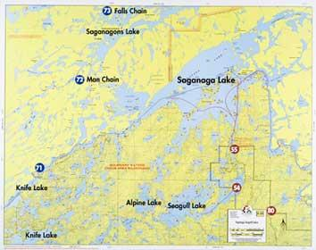 Fisher Maps F19 Saganaga | Boundary Waters Catalog