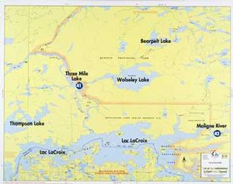 Fisher Maps F- 23 : Lac La Croix North