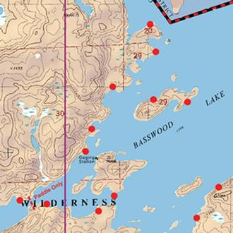 Boundary Waters Catalog MCKENZIE MAPS M Bass - Bwca entry point map
