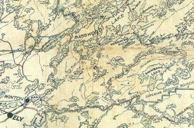 Mckenzie Maps A1 Antique Bwca Boundary Waters Piragis