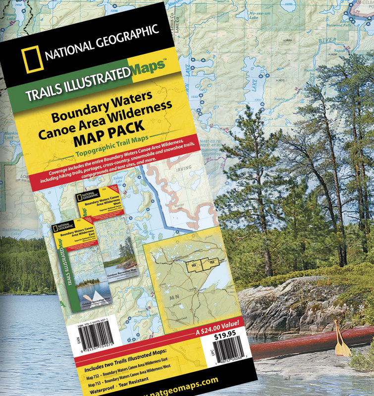 Bwca Map Bundle East West By National Geographic Boundary Waters