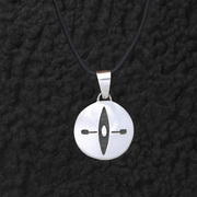 Round Kayaker Pendant Necklace