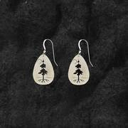 TREE OF LIFE TEARDROP EARRINGS