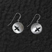 Raven Flying Shadow Earrings