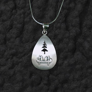 Canoe Tree Pendant Necklace