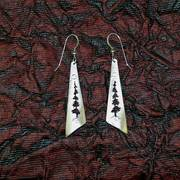 Tree of Life Triangle Earrings