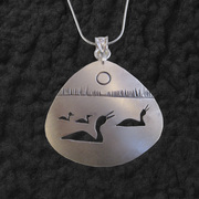 Triangle Loon Family Pendant