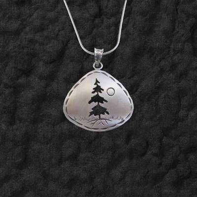 Triangle Tree Pendant