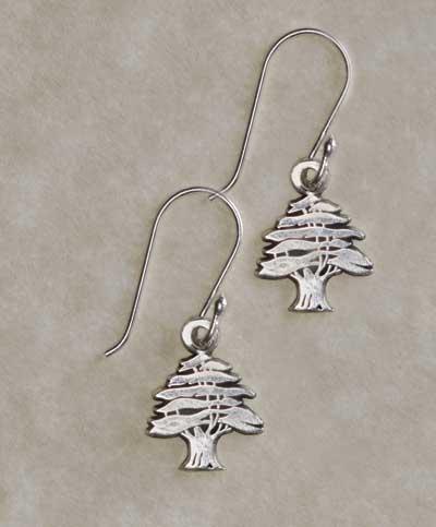Small Cedar Tree Earrings Zoom
