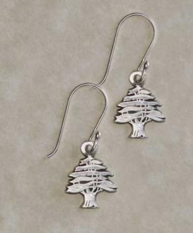Small Cedar Tree Earrings