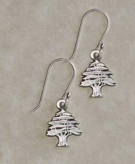Small Cedar Tree Earrings
