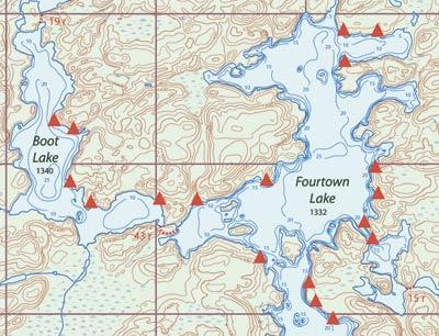 Voyageur Map Bundle Of 10 Boundary Waters Piragis