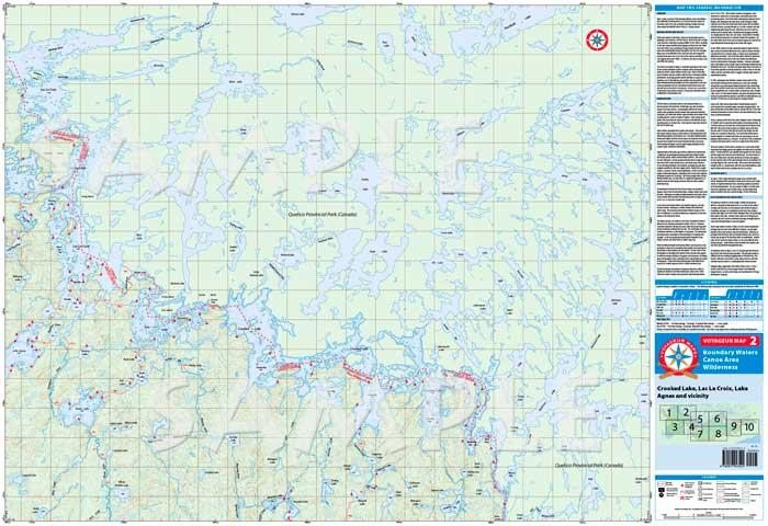 Voyageur Map V02 Crooked Lake Area Maps Boundary Waters Piragis