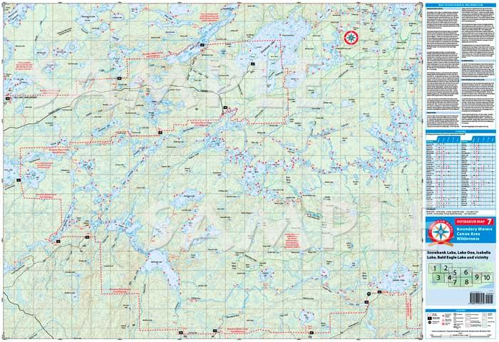 Boundary Waters Catalog Voyageur Map V07 Snowbank