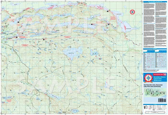 Boundary Waters Catalog Voyageur Map V10 East