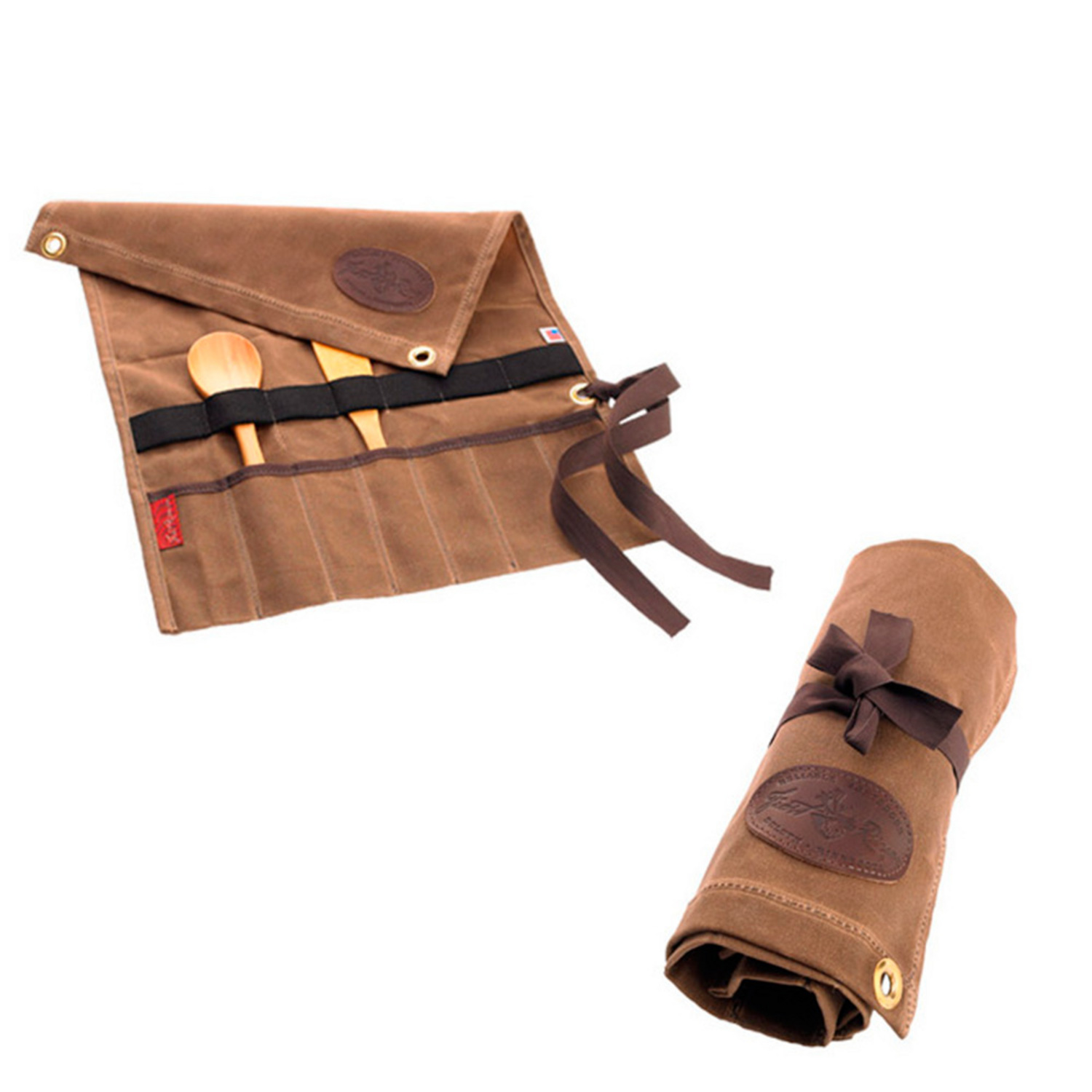 Utensil Roll In Waxed Canvas By Frost River Boundary