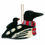 Felted Loon Ornament