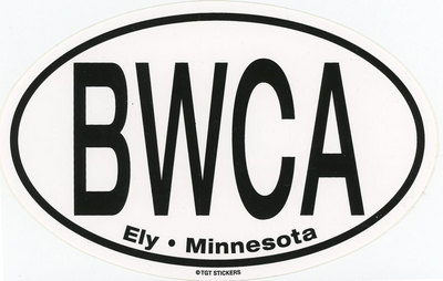 Bwca Ely, Mn Large Oval Sticker