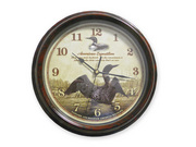 LOON WALL CLOCK 11.5