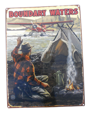Boundary Waters Lake Fly In Plane Sign