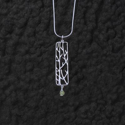Peridot Branch Pendant