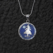 Tree Moon Lapis Pendant