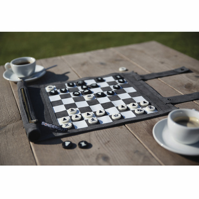 Roll- Up Travel Game Chess And Checkers
