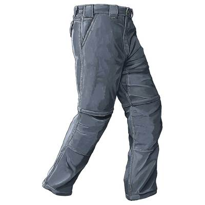 Piragis Nylon Zipper Leg Pant