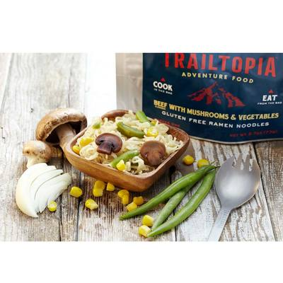 Trailtopia Gluten Free Ramen Noodle Beef With Veggies
