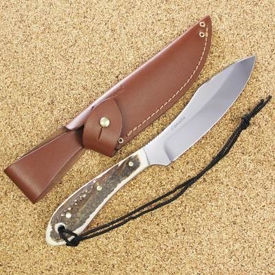 Grohmann Survival Big Game Knife With Staghorn Handle