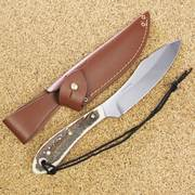 Grohman Survival Big Game Knife with Staghorn Handle