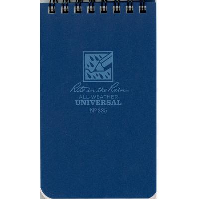 Pocket Top Spiral Notebook Blue 3x5