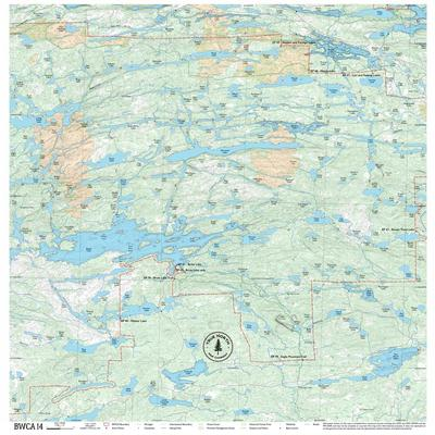 True North Maps Cloth Map 14