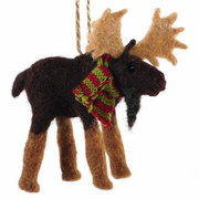 FELTED MOOSE ORNAMENT