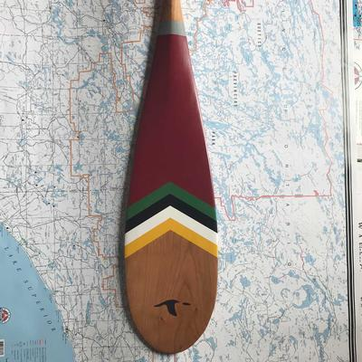 Piragis 40th Anniversary Artisan Painted Paddle