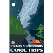 Night Sky Piragis Canoe Trips Poster 11x17