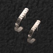 Birch Hoop Post Earrings