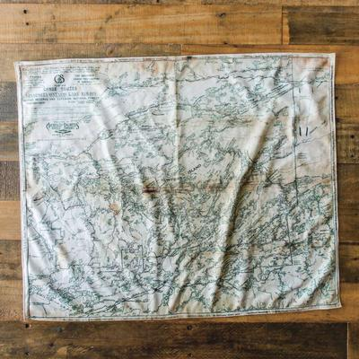 True North Maps Cloth Map Greggars Map 1928