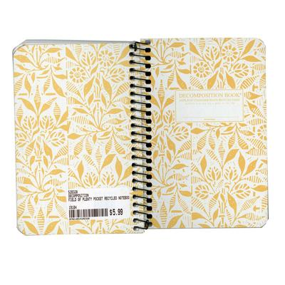 Field Of Plenty Pocket Notebook