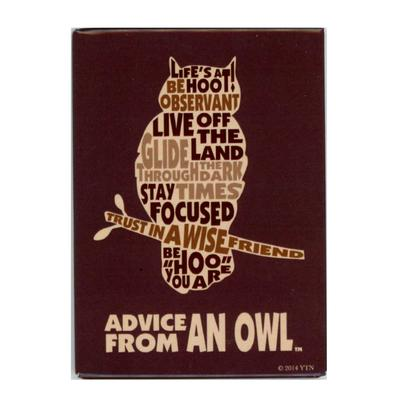 Advice From An Owl Outline Magnet